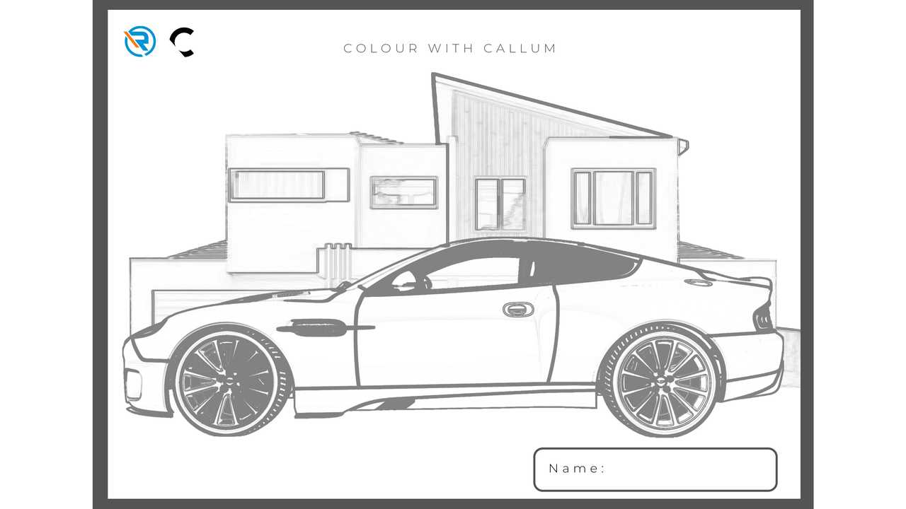 Famous Aston Martin Design Available For Quarantined Kids To Color