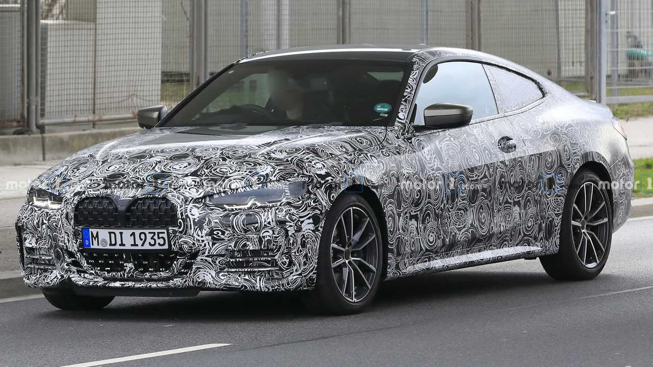 2021 BMW 4 Series Coupe spy photo