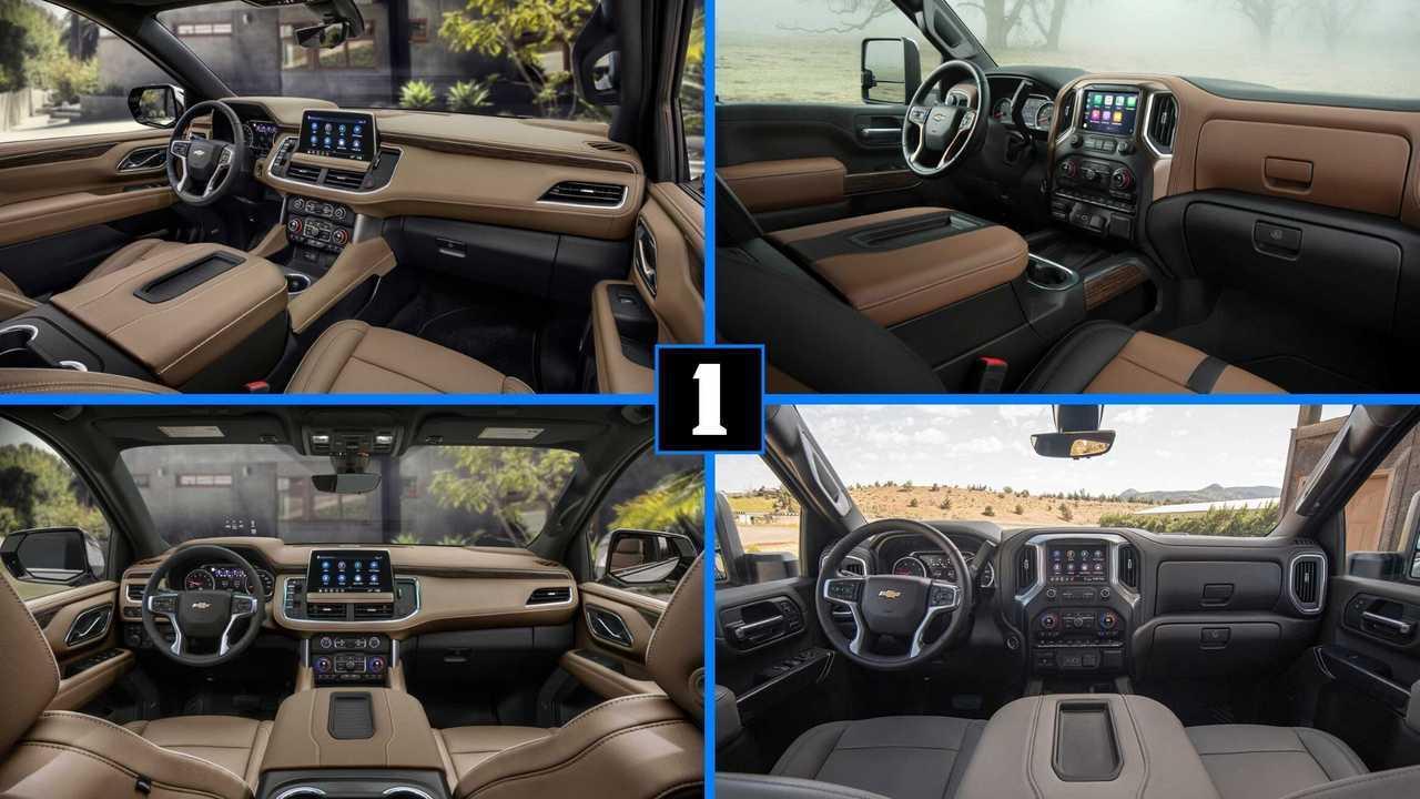 Chevy Suburban vs. Chevy Silverado interior lead image