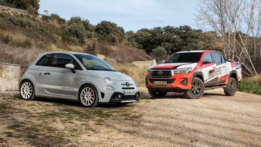 Prueba Abarth 595 esseesse y Toyota Hilux: diversión en todos los terrenos