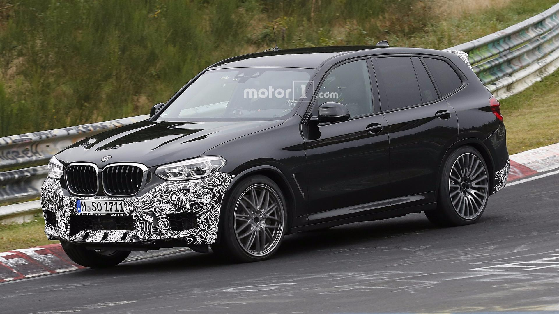 2019 BMW X3 M Caught By The Spy Camera At Nurburgring