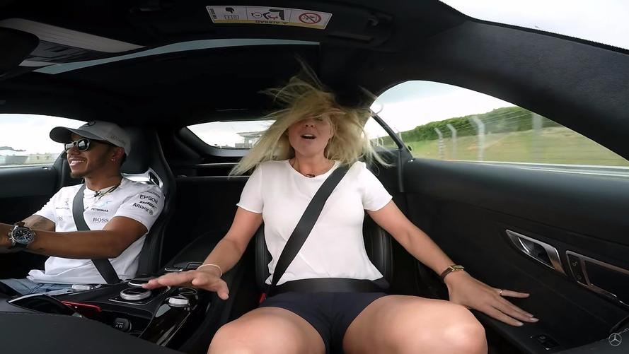 Lewis Hamilton Gives Interviewer Ride Of Her Life In AMG GT