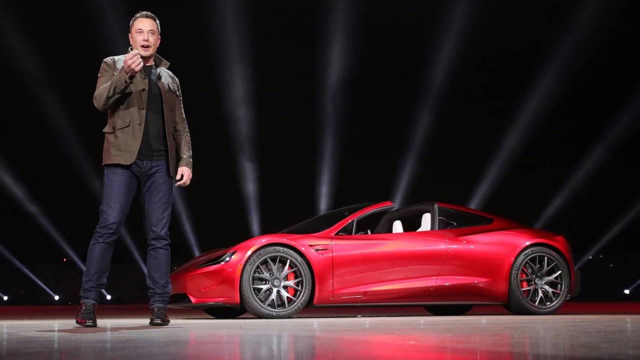 Tesla Roadster avec Elon Musk