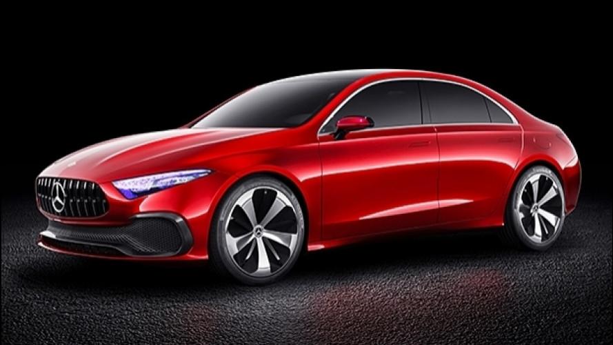 Mercedes Concept A Sedan, ecco la nuova famiglia