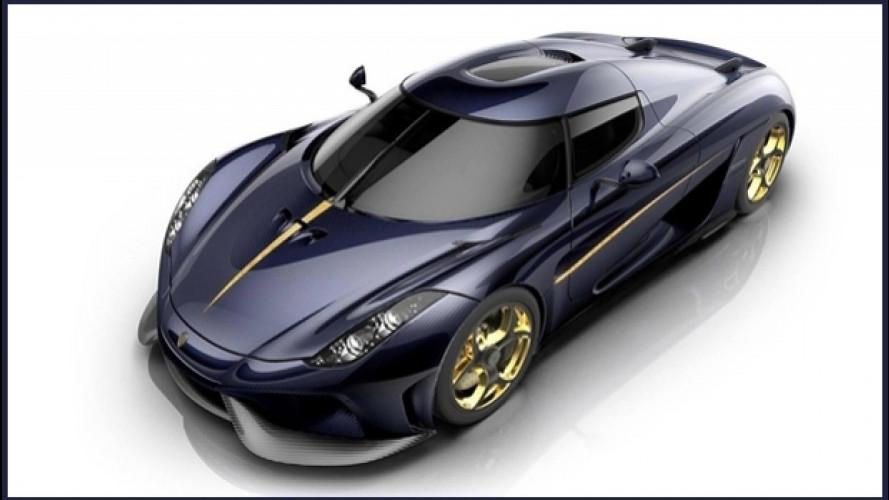 """Koenigsegg Regera, quella del """"boss"""" è blu e oro"""