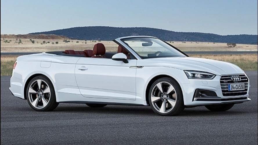 Audi A5 Cabriolet, nuovi motori 2.0 e 3.0 TDI