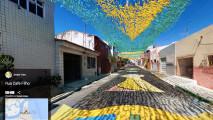 Mondiali 2014, le strade dipinte in Brasile