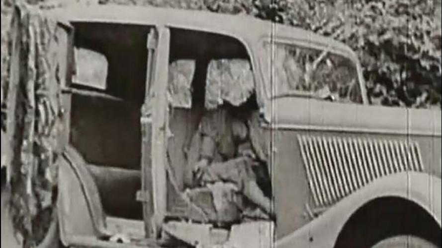 80 anni fa l'auto di Bonnie e Clyde veniva crivellata dai proiettili [VIDEO]