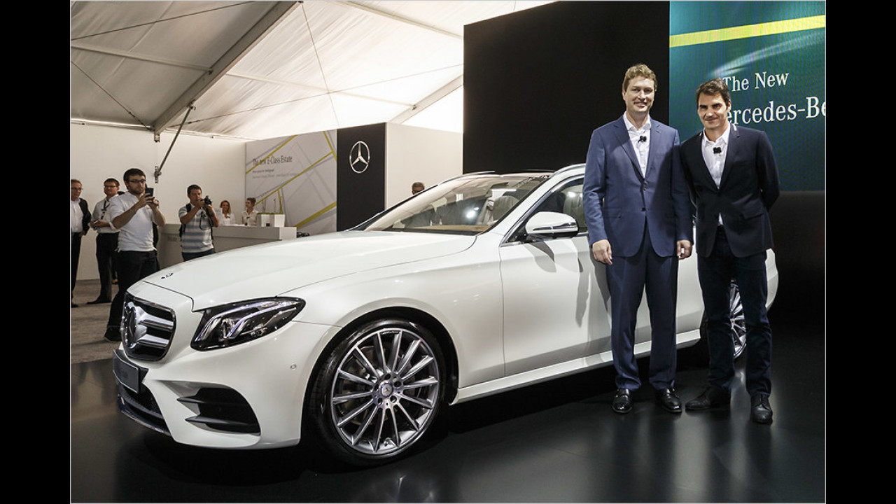 Roger Federer: Mercedes E-Klasse T-Modell