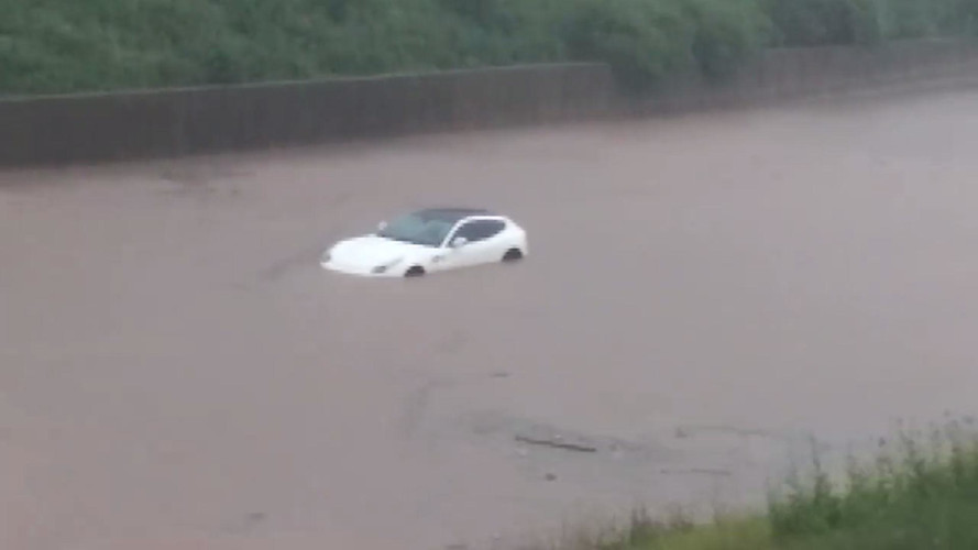 Ferrari FF Takes A Swim During Cleveland Flash Flood