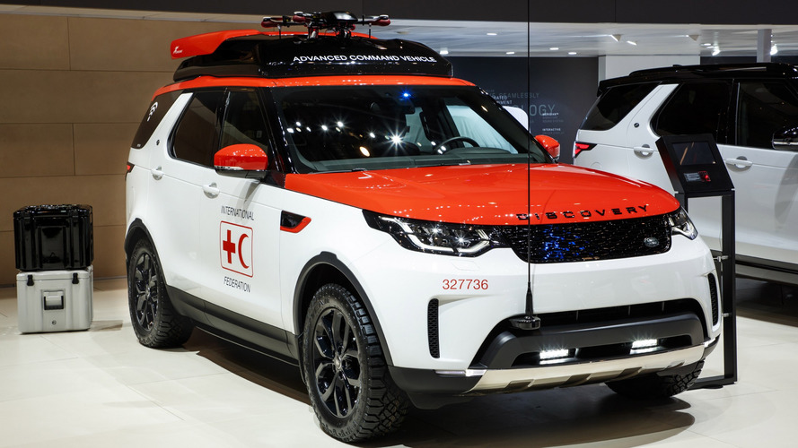 Geneva Motor Show Land Rover Discovery Project Hero Concept Has Its Own Drone