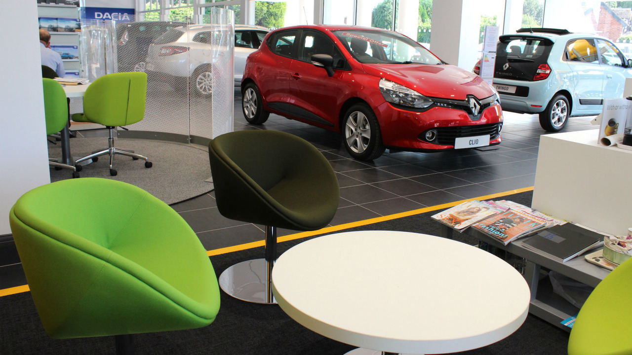 Renault Clio in showroom