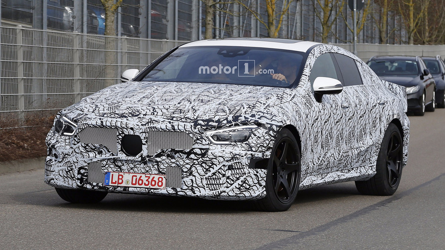 Mercedes-AMG GT four-door spy shots suggest concept car looks will remain