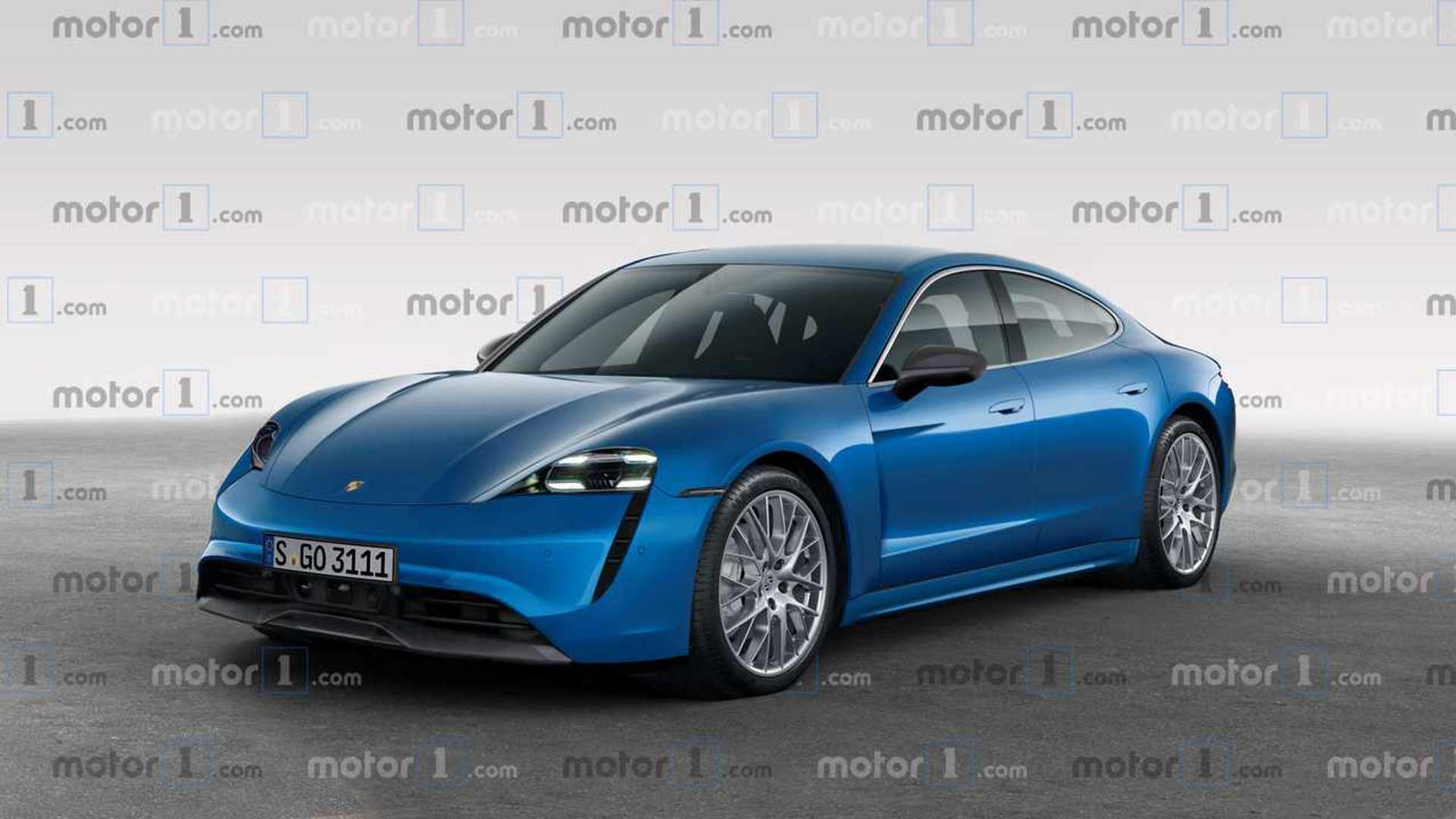 Porsche Taycan Rendered Imagining 600,HP Super Sedan