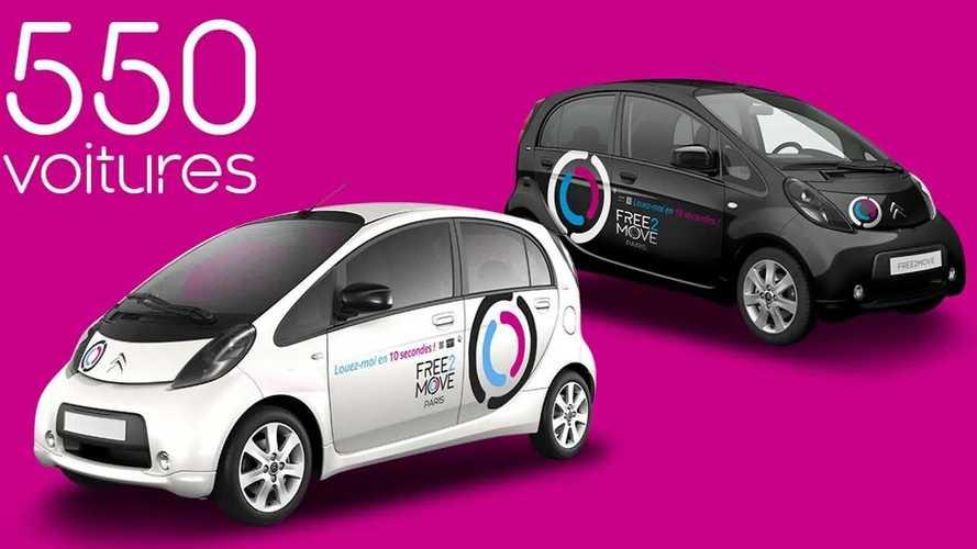 PSA Free2Move - 550 voitures électriques en autopartage à Paris