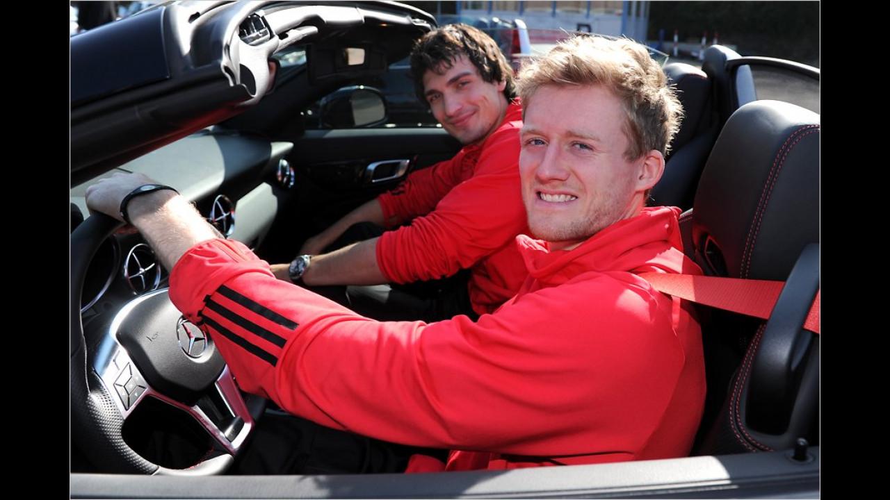 André Schürrle und Mats Hummels: Mercedes SLK