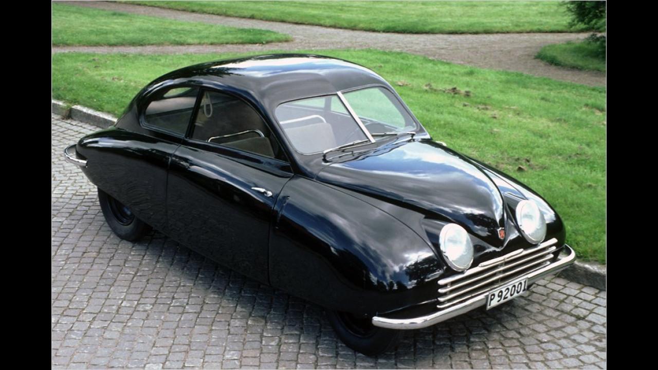 Die Geschichte der Saab-Autos begann 1947 mit dem Prototypen 92001