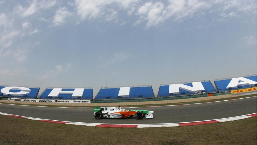 Force India, HRT teams still in China