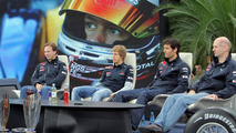 Championship press conference Red Bull at Hangar 7 with Sebastian Vettel (GER), Mark Webber (AUS) und Christian Horner (Red Bull Racing) and Adrian Newey, 16.11.2010 Salzburg, Austria