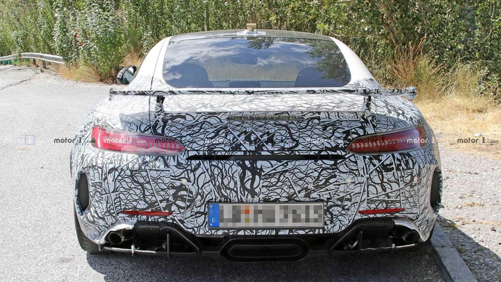 Mercedes-AMG GT R Spied With Lexus-Esque Exhaust