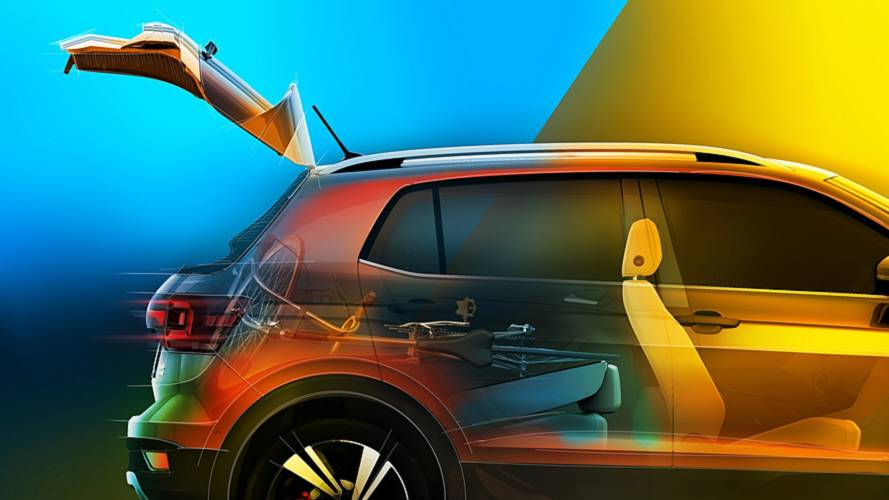 VW T-Cross já exibe opções de modularidade do espaço interno