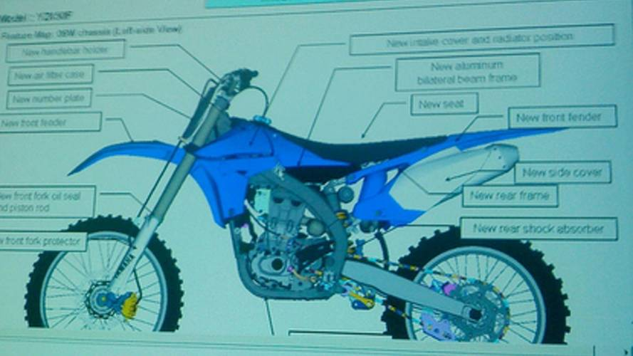 2010 Yamaha YZ450F leaked with reversed single-cylinder