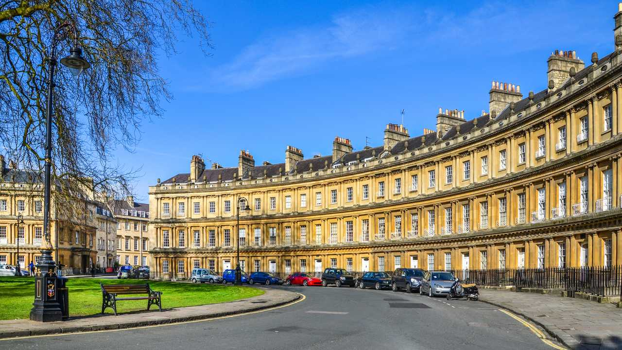The Circus historic street in the city of Bath UK