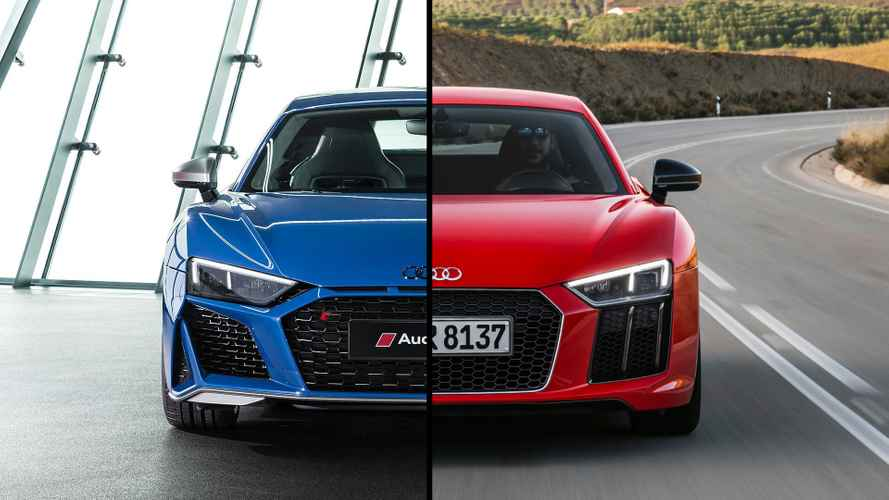 La version restylée de l'Audi R8 face à la version sortante