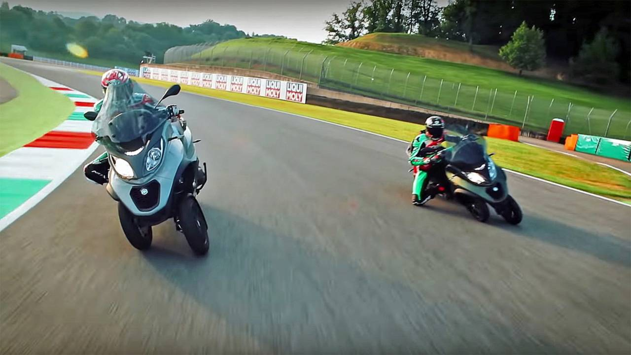 Watch: MotoGP Racers Take Piaggio MP3 out on Track