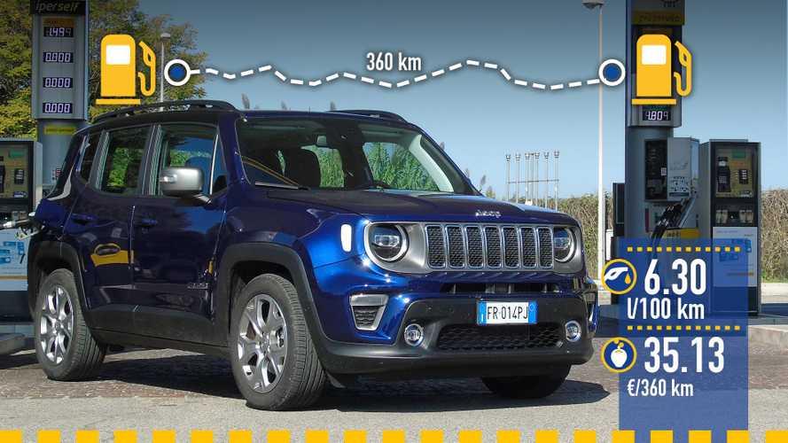 Jeep Renegade 1.0, la prova dei consumi reali