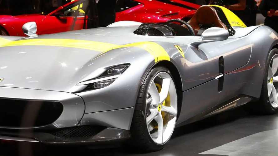 Ferrari Monza SP1 And SP2 at the Paris Motor Show