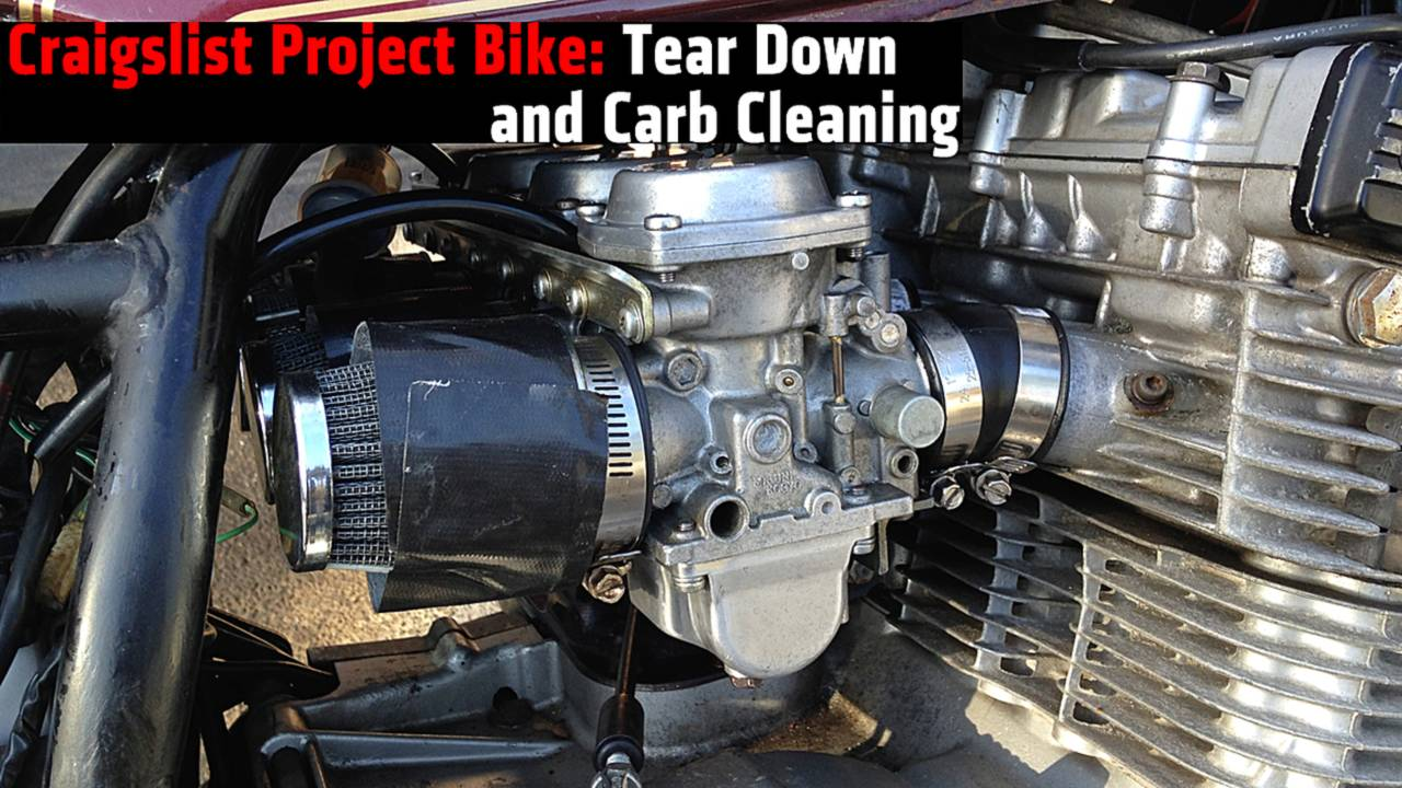 Craigslist Project Bike: Tear Down and Carb Cleaning
