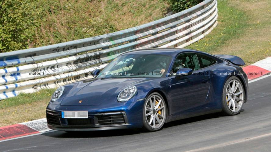 New Porsche 911 Carrera Spied Winging Its Way Around The 'Ring
