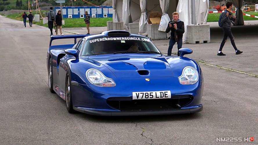 Porsche 911 GT1 Straßenversion drag races Carrera GT