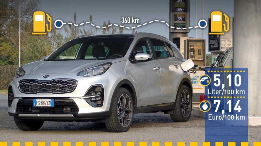 Tatsächlicher Verbrauch: Kia Sportage Diesel im Test