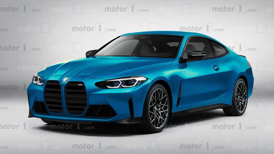 2021 BMW M4 Coupe rendering by Motor1.com