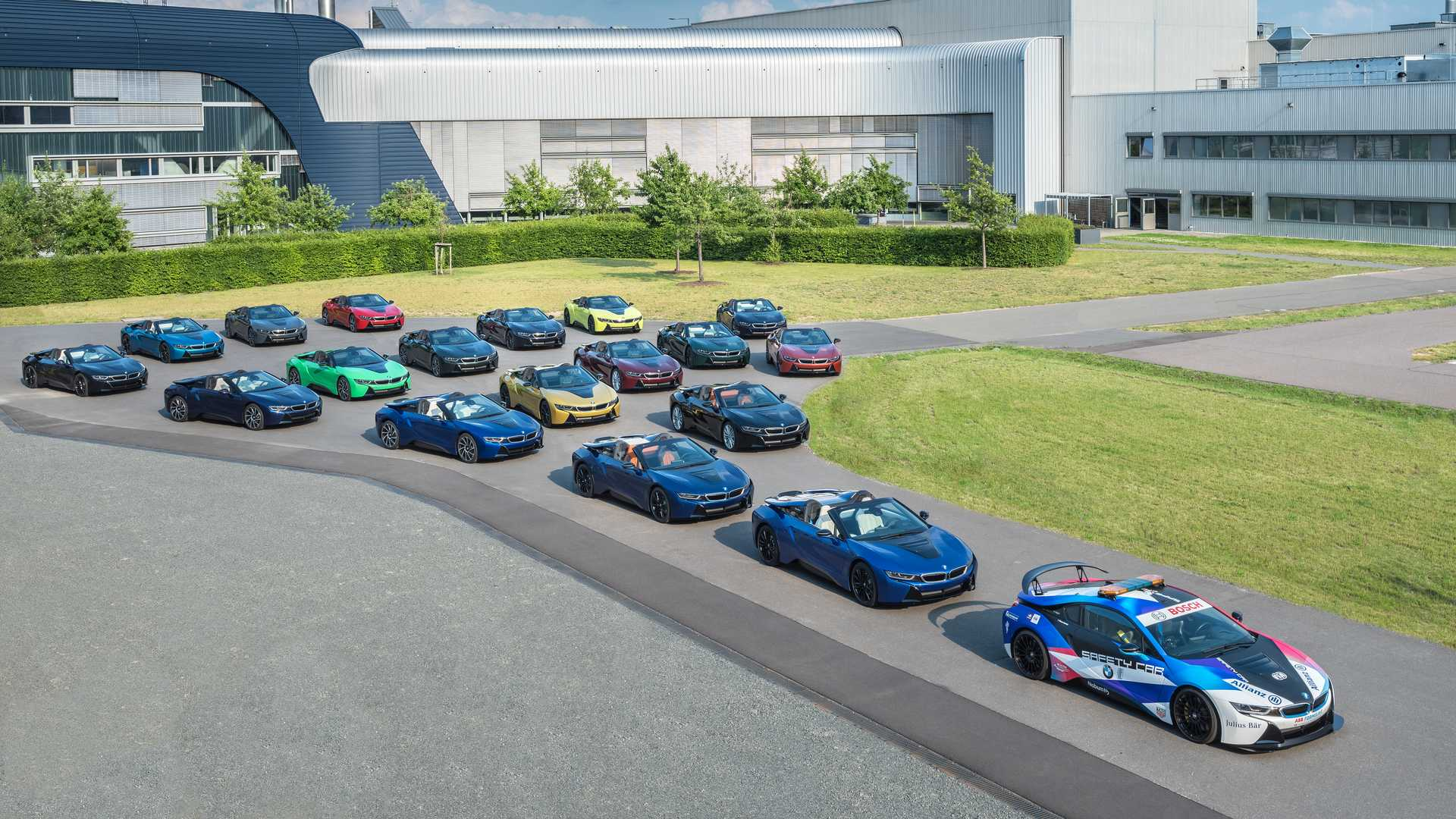 Bmw I8 Production Ends With 18 Uniquely Colored Cars