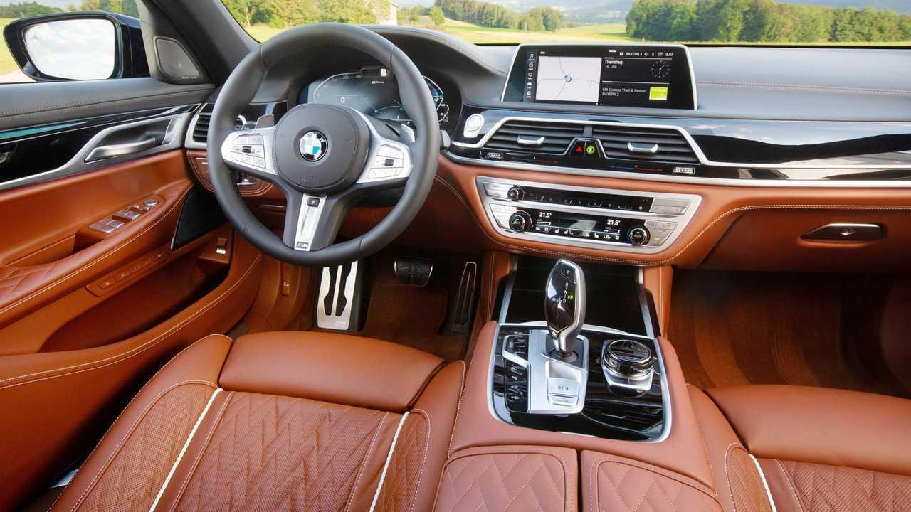 BMW 745e interior