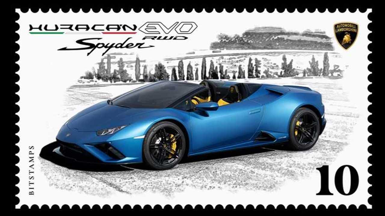 Sello de correos Lamborghini Huracán