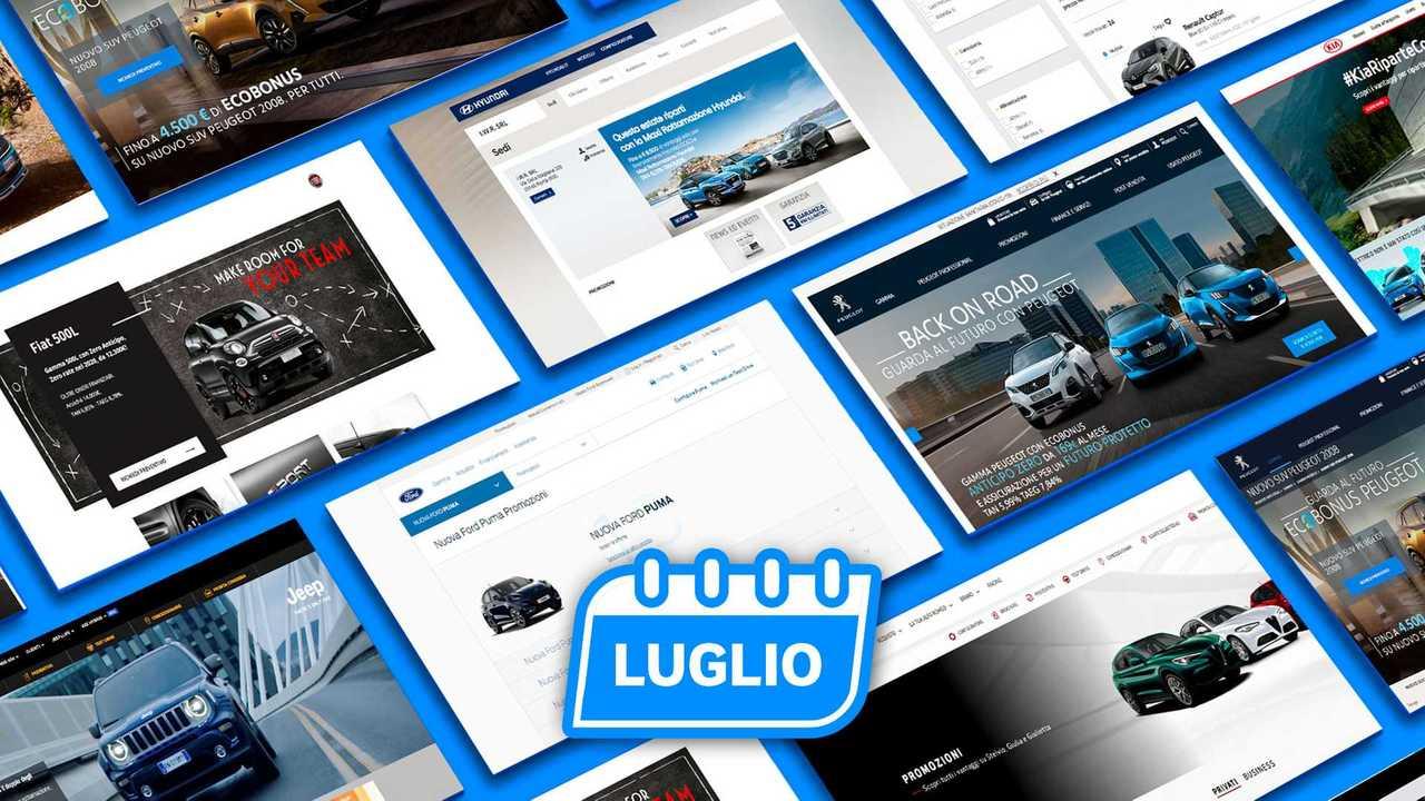 Copertina Promozioni auto, tutte le offerte di luglio 2020