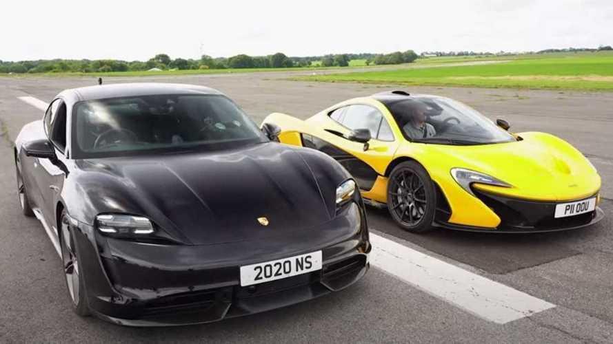Porsche Taycan Turbo S VS McLaren P1: chi vince questa drag race?