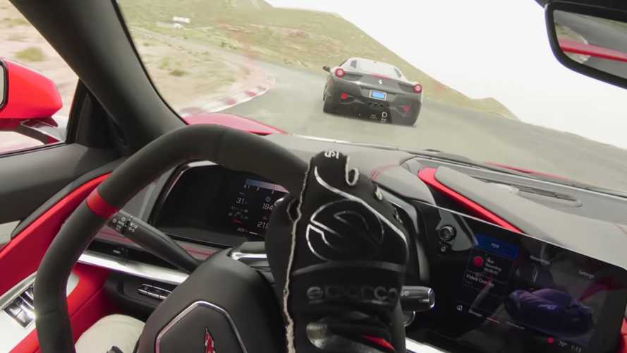 Watch Chevy Corvette C8 Run With McLarens And A Ferrari On The Track