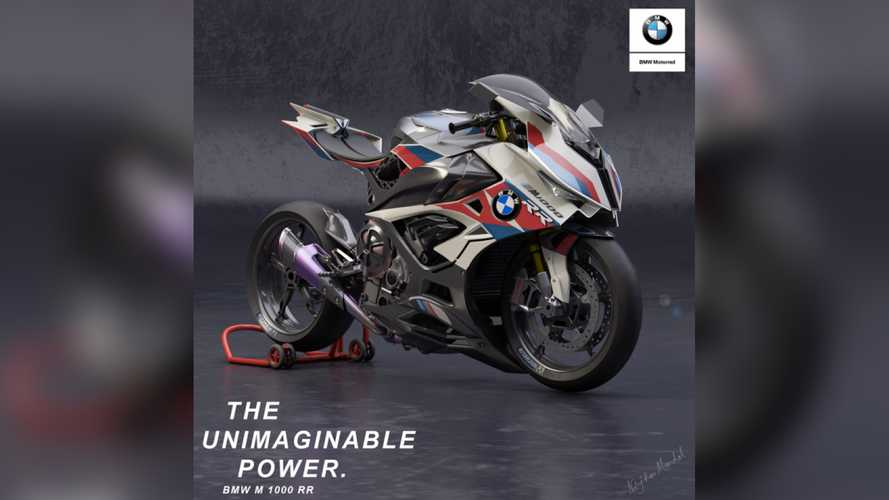The BMW M1000RR Rendered With An Electric Supercharger