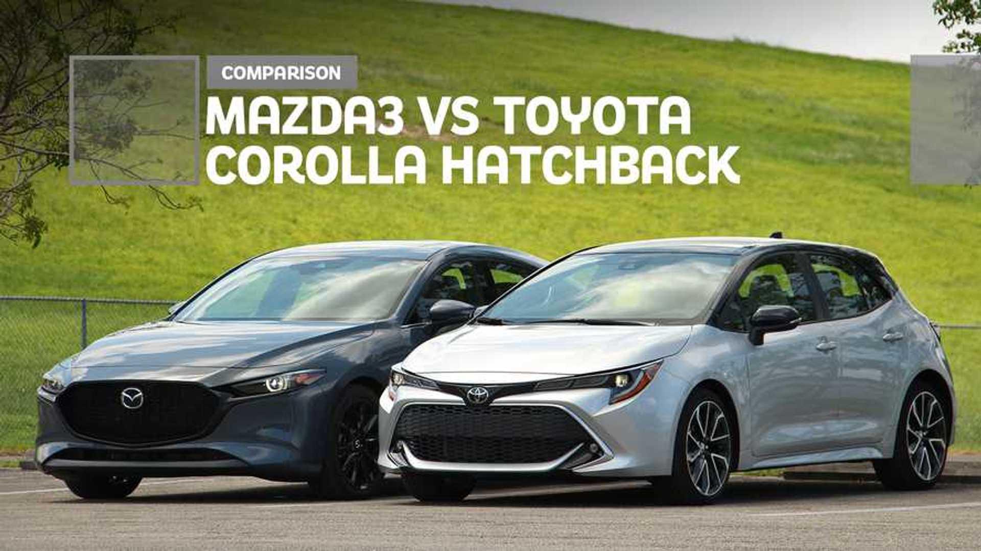 Konzept 2021 Corolla Vs 2019 Mazda 3