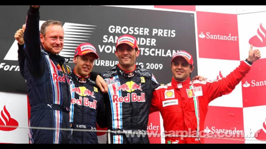 Webber vence em Nürburgring com Massa em 3° e Barrichello em 6° - Veja vídeo dos melhores momentos