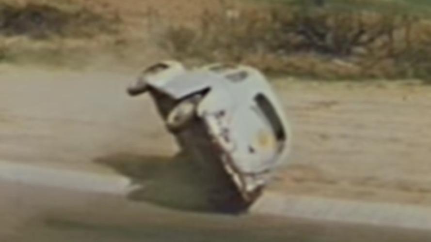 Eski Nürburgring pistinden kaza videoları