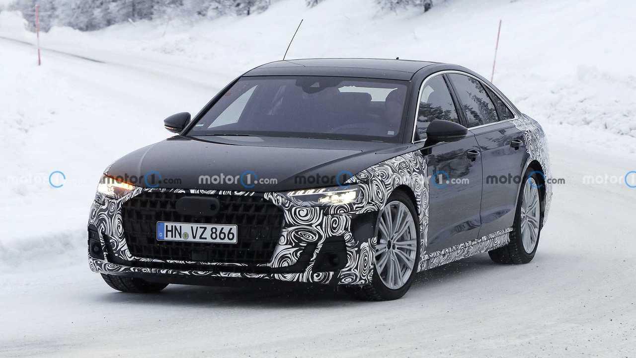 2021 Audi A8 yeni casus fotoğraflar (makyaj)