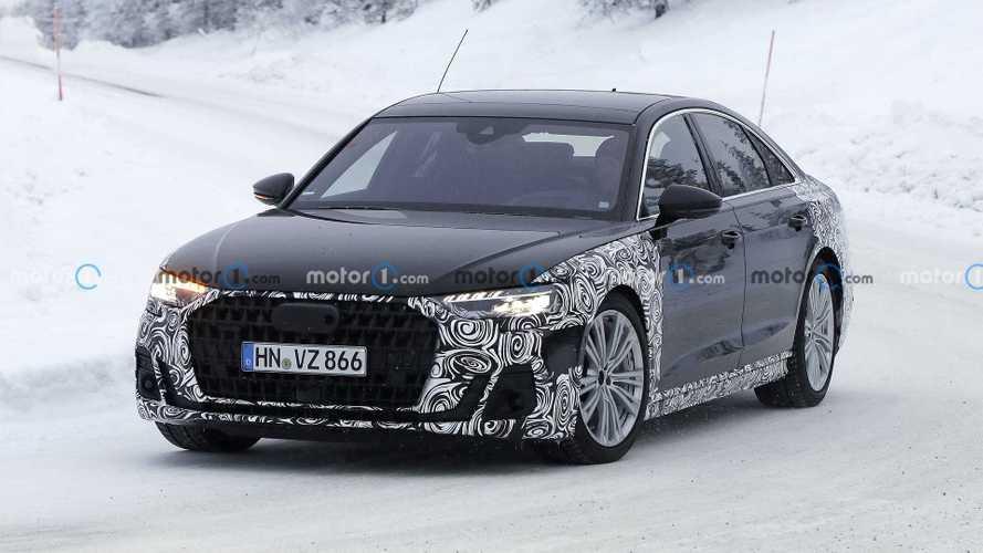 2021 Audi A8 makyajlı yüzünü gizlerken yakalandı