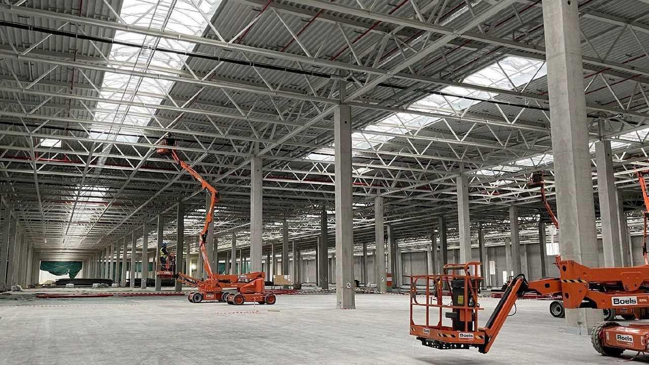 Tesla Giga Berlin (Gigafactory 4) Model Y factory interior (Tesla Q4 2020 report)