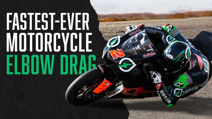 Josh Herrin Sets World Record For Fastest Motorcycle Elbow Drag